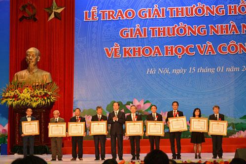Trao Giải thưởng Hồ Chí Minh, Giải thưởng Nhà nước về khoa học và công nghệ đợt 5