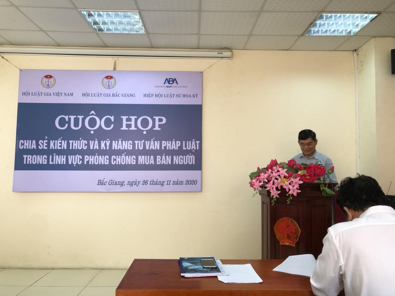 Hội Luật gia tỉnh đã tổ chức hội nghị nâng cao tư vấn pháp luật trong lĩnh vực phòng chống mua bán người