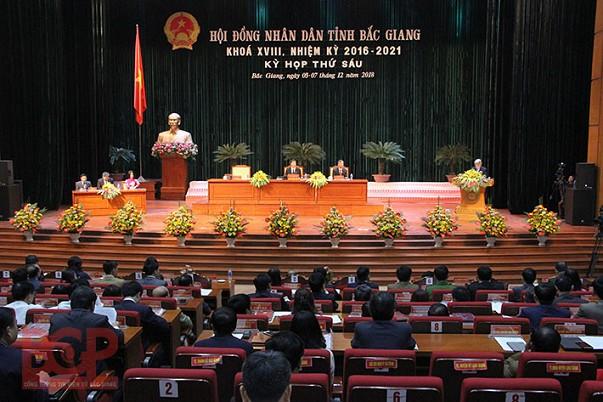 Khai mạc kỳ họp thứ 6 HĐND tỉnh Bắc Giang khóa XVIII, nhiệm kỳ 2016-2021