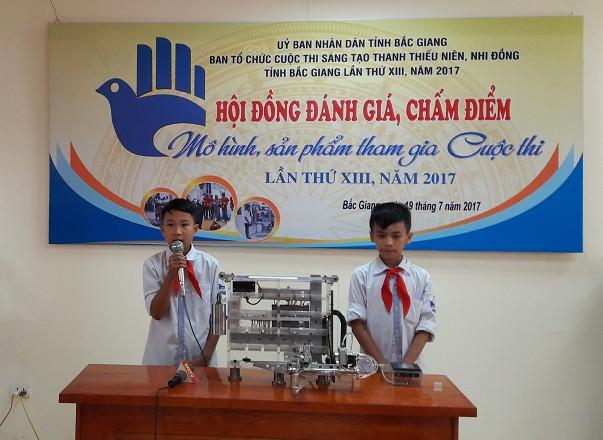 52 mô hình, sản phẩm lọt vào vòng chung khảo Cuộc thi Sáng tạo TTN, NĐ tỉnh Bắc Giang