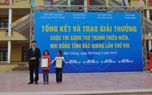Cuộc thi sáng tạo thanh thiếu niên, nhi đồng tỉnh Bắc Giang lần thứ VIII - năm 2012